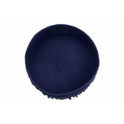 Kosz na zabawki pleciony z frędzlami - Fringes Alaska Blue Granatowy Lorena Canals dla dzieci