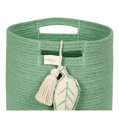 Kosz na zabawki pleciony - Leaf Green Zielony Lorena Canals dla dzieci