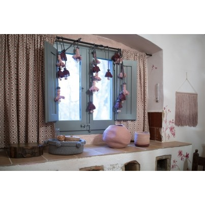 Dziecięcy Kosz na zabawki pleciony - Bola Muted Clay Różowy Lorena Canals dla dziewczynki