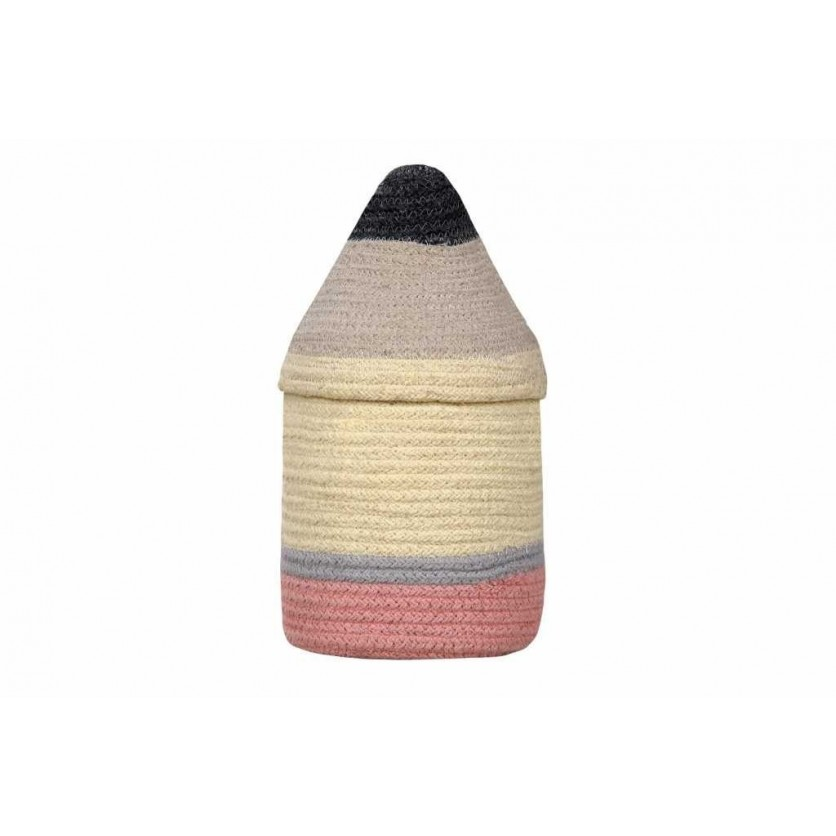 Kosz na zabawki zamykany ołówek - Pencil Small Kolorowy Lorena Canals dla dzieci