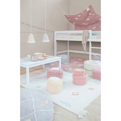 Dziecięcy Pleciony kosz na zabawki zamykany - Candy Box Vintage Nude Small Różowy Lorena Canals dla dziewczynki