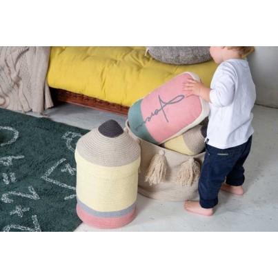 Dziecięcy Kosz na zabawki zamykany ołówek - Pencil Large Kolorowy Lorena Canals dla dziewczynki