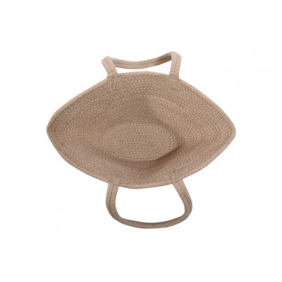Kosz na zabawki pleciony z uszami - Cistell Linen Smalll Beżowy Lorena Canals dla dzieci