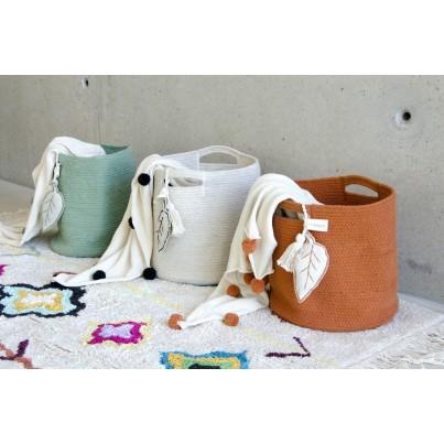 Kosz na zabawki pleciony - Leaf Natural Beżowy Lorena Canals dla dzieci