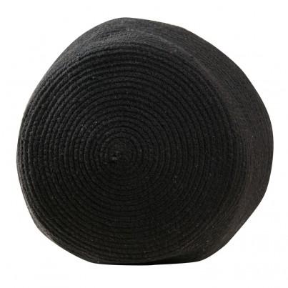 Kosz na zabawki pleciony z uszami - Zoco Black/Natural Beżowo-Czarny Lorena Canals dla dzieci