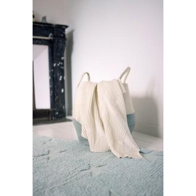 Kocyk bawełniany dla dzieci 90x120 - Hippy Stars Natural Lorena Canals do wózka i fotelika