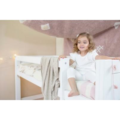 Kocyk bawełniany dla dzieci 90x120 - Biscuit Dune White Lorena Canals do wózka i fotelika