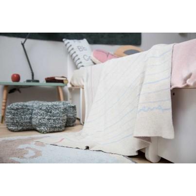 Kocyk bawełniany dla dzieci 90x120 - Notebook Lorena Canals do wózka i fotelika