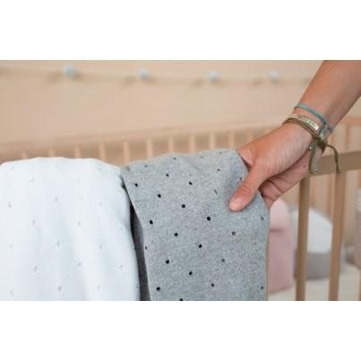 Kocyk bawełniany dla dzieci 90x120 - Biscuit White Lorena Canals do wózka i fotelika