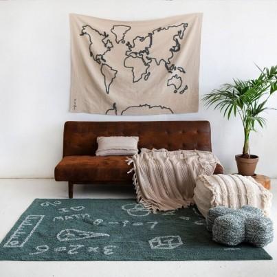 Dekoracja na ścianę dla dzieci mapa - Canvas Map Lorena Canals do pokoju dziecięcego