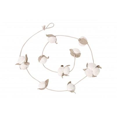 Girlanda dla dzieci kwiaty bawełny - Cotton Bolls Lorena Canals do pokoju dziecka