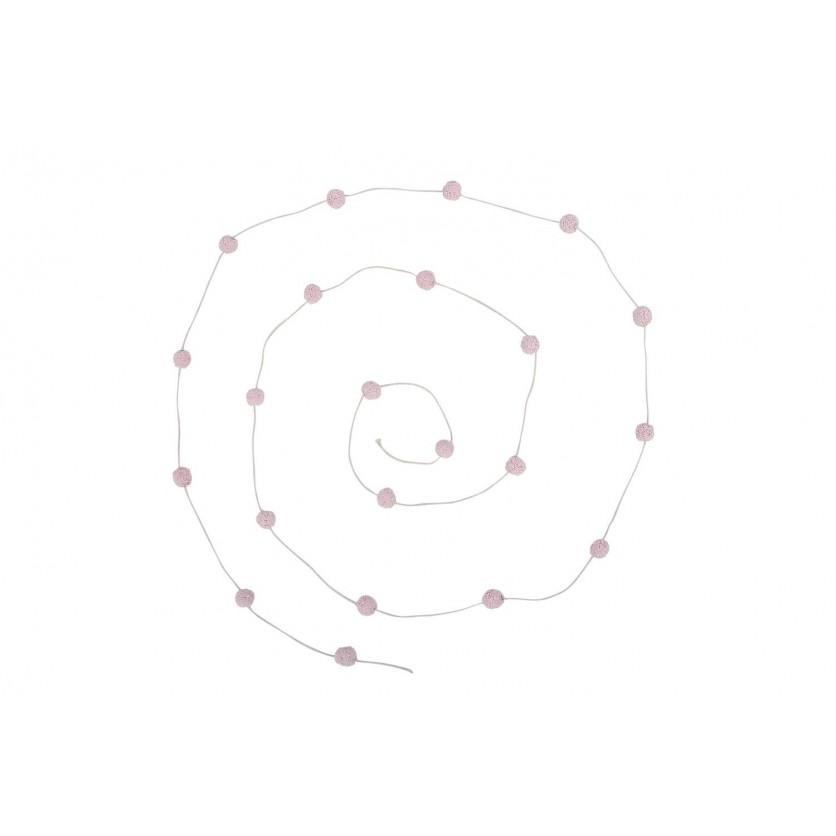 Girlanda dla dzieci kuleczki - Candy Necklace Różowa Lorena Canals do pokoju dziecka