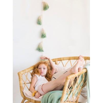 Girlanda dla dzieci - Pom Pom Tie-Dye Beżowo-Zielona Lorena Canals do pokoju dziecka