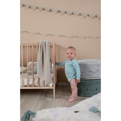 Miękka Pufa dla dzieci - Chill Vintage Blue Lorena Canals do pokoju dziecięcego