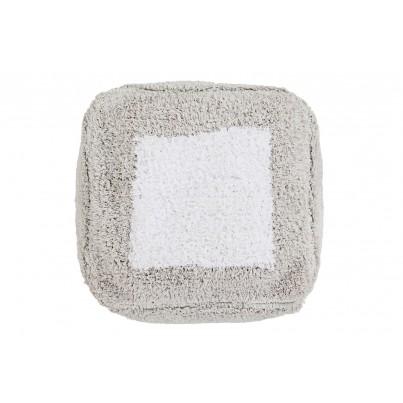 Miękka Pufa dla dzieci - Marshmallow Square Pearl Grey Lorena Canals do pokoju dziecięcego