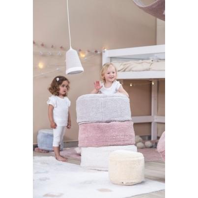 Miękka Pufa dla dzieci - Chill Pearl Grey Lorena Canals do pokoju dziecięcego