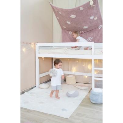 Miękka Pufa dla dzieci - Marshmallow Round Light Blue Lorena Canals do pokoju dziecięcego