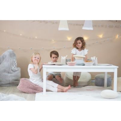 Miękka Pufa dla dzieci - Marshmallow Square Vintage Nude Lorena Canals do pokoju dziecięcego