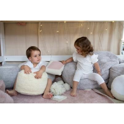 Miękka Pufa dla dzieci - Marshmallow Round Vanilla Lorena Canals do pokoju dziecięcego