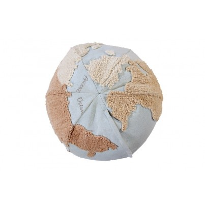 Miękka Pufa dla dzieci mapa świata - World Map Lorena Canals do pokoju dziecięcego