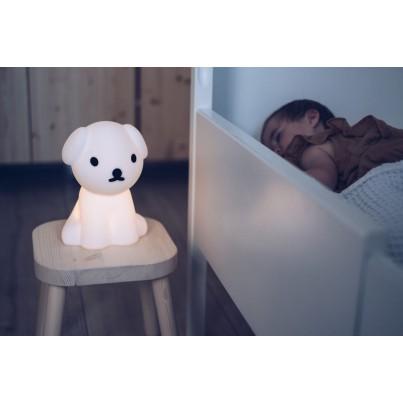 Biała Lampka nocna dziecięca piesek - Snuffy First Light Mr Maria do pokoju dziecka
