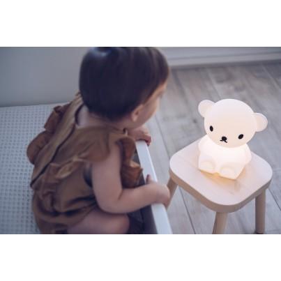 Biała Lampka nocna dziecięca miś - Boris First Light Mr Maria do pokoju dziecka