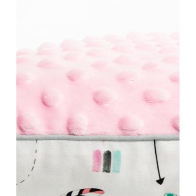 """Pastelowa Poduszka """"Jasiek"""" dla dzieci - Indianki 30x40 do łóżeczka"""