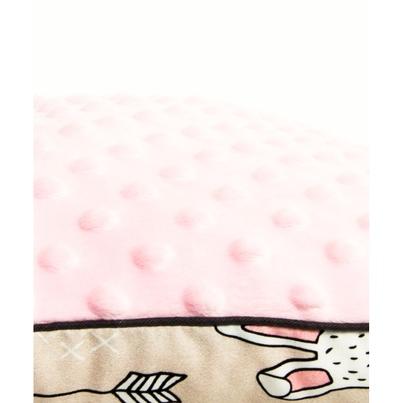 Pastelowa Duża poduszka dziecięca Króliki 40x60 Minky do łóżeczka