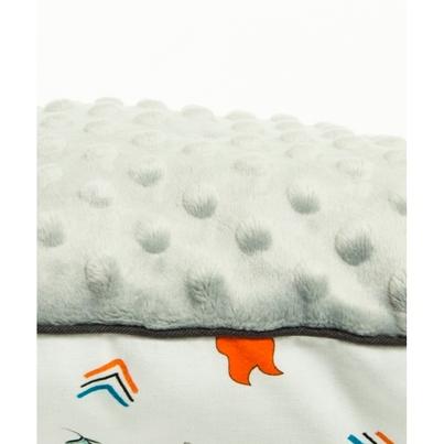 Pastelowa Duża poduszka dziecięca Indianie 40x60 Minky do łóżeczka