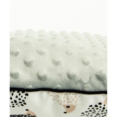 Pastelowa Duża poduszka dziecięca Jeżyki 40x60 Minky do łóżeczka