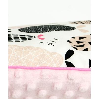 Pastelowa Duża poduszka dziecięca Gruszki 40x60 Minky do łóżeczka