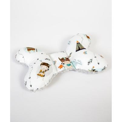 Poduszka Motylek Indianie/Minky dla noworodka do wózka i fotelika