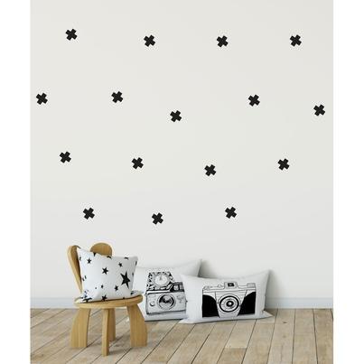 Naklejki na ścianę dla dzieci czarne Krzyżyki do pokoju dziecięcego