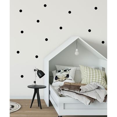 Naklejki na ścianę dla dzieci czarne Kropki do pokoju dziecięcego