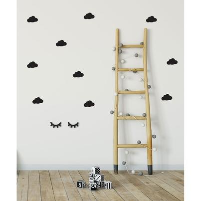 Naklejki na ścianę dla dzieci czarne Chmurki do pokoju dziecięcego