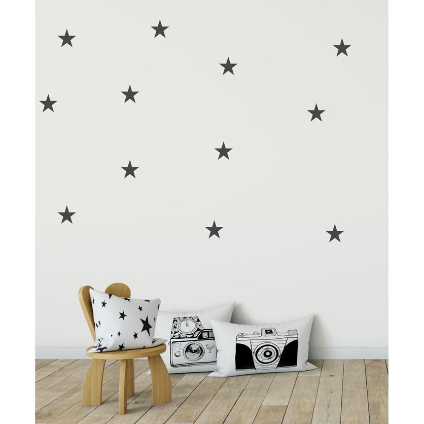 Naklejki na ścianę dla dzieci czarne Gwiazdki do pokoju dziecięcego