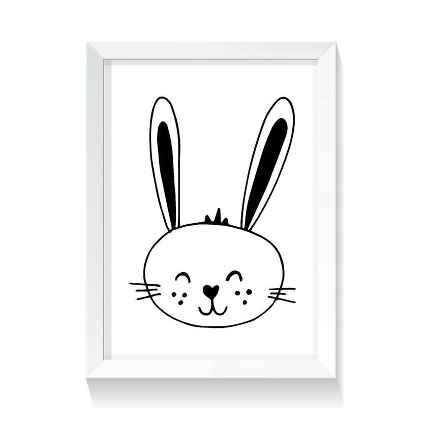 """Plakat/Obrazek dla dzieci """"Króliczek"""" 20x30cm do pokoju dziecięcego"""